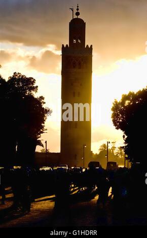 Koutoubia Mosque in Marrakech, Morocco. - Stock Photo