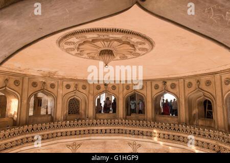 Inside Charminar, Hyderabad - Stock Photo