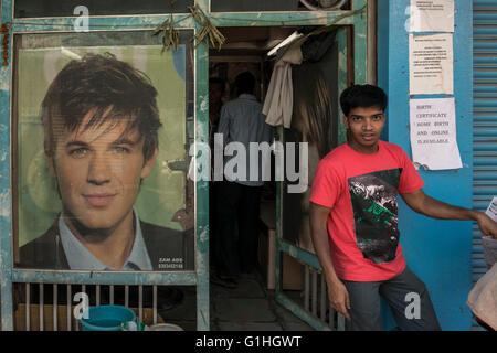 Hairdresser, Hyderabad - Stock Photo