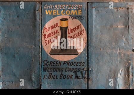 Stamp Maker, Hyderabad - Stock Photo