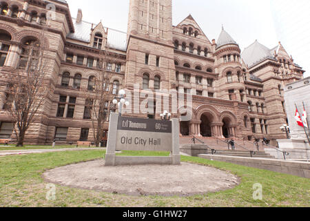 TORONTO - APRIL 28, 2016: Toronto's Old City Hall was home to its city council from 1899 to 1966 and remains one of the city's m