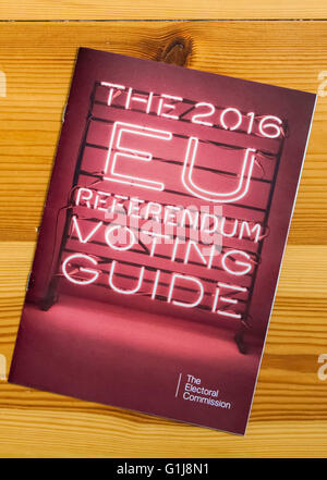London, UK. 16th May, 2016. An impartial voting guide for the EU referendum will drop through the letterboxes of - Stock Photo