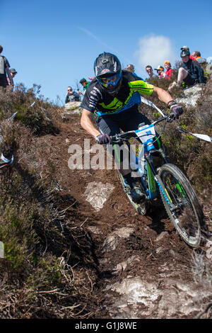 Carrick Mountain, County Wicklow, UK. 15th May, 2016. Pictured competing in the Emerald Enduro World Series mountain - Stock Photo