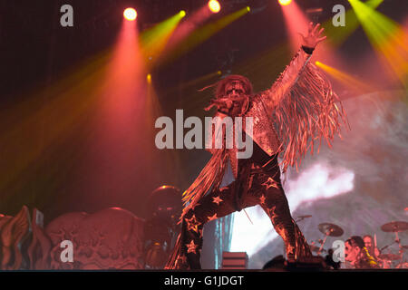 Somerset, Wisconsin, USA. 14th May, 2016. ROB ZOMBIE performs live at Somerset Amphitheater during the Northern - Stock Photo