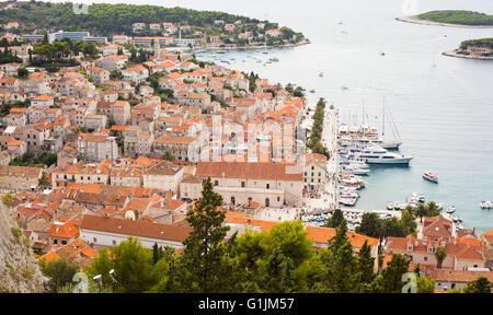 View of the city of Hvar, Croatia. - Stock Photo