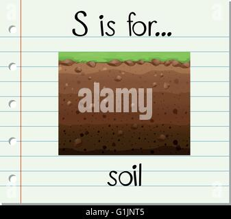 Flashcard letter s is for soil illustration stock vector for Soil 5 letters