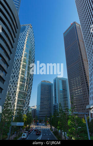 Shinjuku, Tokyo, Japan financial district cityscape - Stock Photo