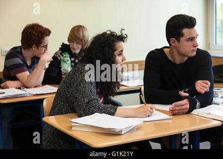 School class in the classroom - Stock Photo