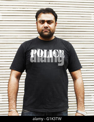 Indian shopkeepers close shops, commonwealth games disruption - Stock Photo