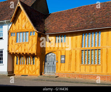 Little Hall, in the village of Lavenham, Suffolk, England UK - Stock Photo