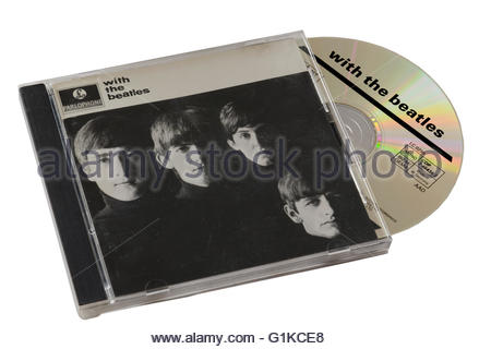 With The Beatles CD - Stock Photo