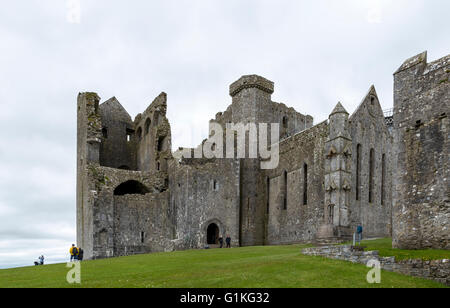 Impressive view on the Rock of Cashel, Cashel, County Tipperary,  Province of Munster, Republic of Ireland, Europe. - Stock Photo