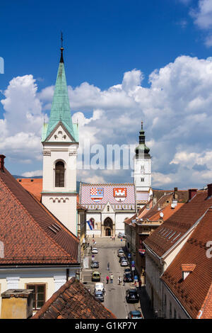 Church of St Mark, famous building monuments in Zagreb, Croatia - Stock Photo