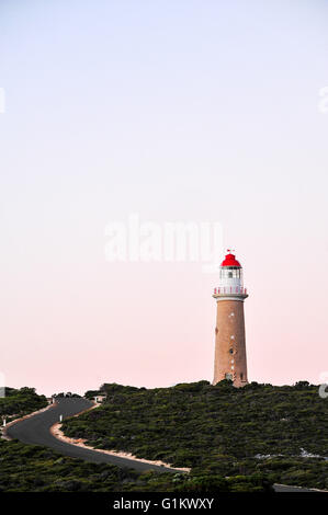 The magificant sandstone Cape du Couedic lighthouse on kangaroo island, south Australia - Stock Photo
