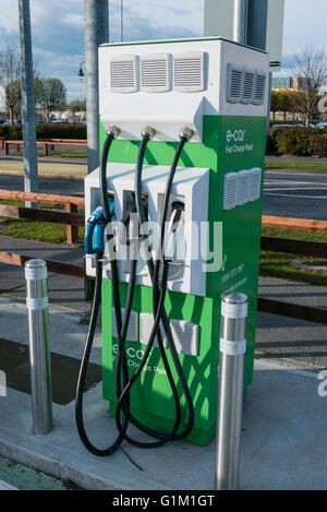 e-car fast charge point for electric cars and vehicles. - Stock Photo