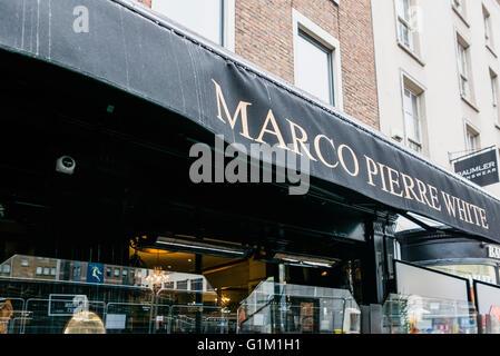 Marco Pierre White's Steakhouse grill and restaurant, Dawson Street, Dublin, Ireland - Stock Photo