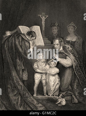 The marriage of Lady Anne Mowbray with Richard of Shrewsbury, Duke of York, St Stephen's Chapel, Westminster, London, - Stock Photo