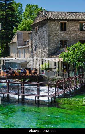 Fontaine de Vaucluse Provence France 84 - Stock Photo