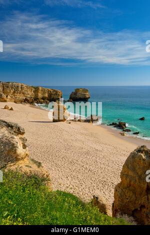 Portugal, the Algarve, Praia de São Rafael, Albufeira - Stock Photo