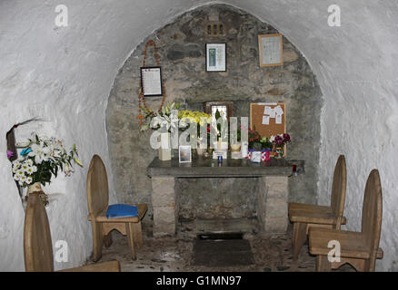 The 6th century St Trillo's Chapel, Rhos-on-Sea, Wales - Stock Photo