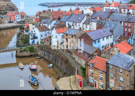 Staithes, Scarborough, Yorkshire, England, UK - Stock Photo