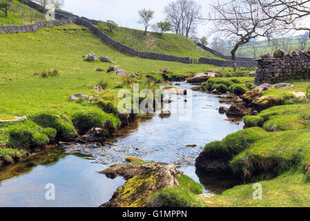 Malham Cove, Malham; Craven; North Yorkshire; England; UK; - Stock Photo