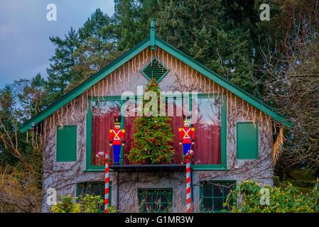 christmas display butchart gardens brentwood bay vancouver island british columbia canada