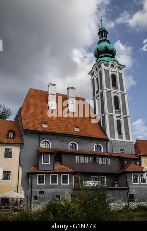 St Vitus church in Cesky Krumlov - Stock Photo