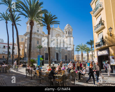 Cadiz, Cadiz Province, Andalusia, southern Spain.  The cathedral on Plaza de la Catedral, built between 1722 and - Stock Photo