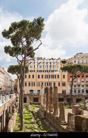 Rome, Italy.  Largo di Torre Argentina.  Ruins dating to the ancient Roman Republic.  They include the remains of - Stock Photo