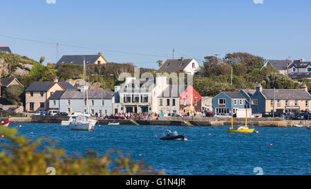 Crookhaven, County Cork, Republic of Ireland.  Eire.  The village seen across the waters of Galley Cove. - Stock Photo
