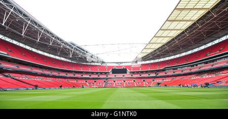Wembley, London, UK. 17th May, 2016. General views of Wembley Stadium at the FA Vase Media Day Credit:  jules annan/Alamy - Stock Photo