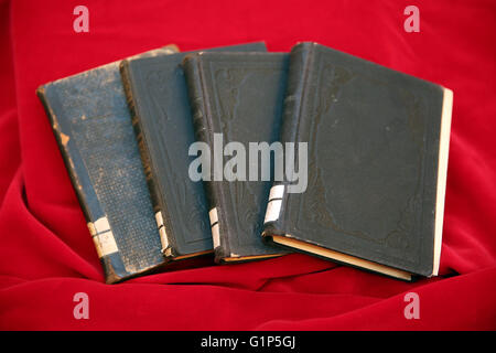 Rostock, Germany. 18th May, 2016. Stolen books from the inventory of the Rostock university library seen at the - Stock Photo