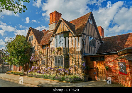 Halls Croft is one of the historic properties maintained by the Shakespeare trust in Stratford upon Avon, seen here - Stock Photo
