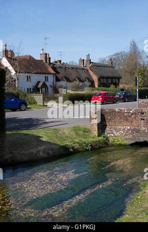 Village of Cheriton , Hampshire, England - Stock Photo
