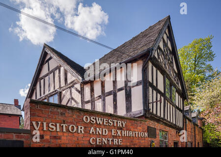 The Visitor and Exhibition Centre, originally a school, in Oswestry, Shropshire, England. - Stock Photo