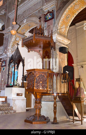 Pulpit of Santa Cruz Cathedral at Fort Kochi - Stock Photo