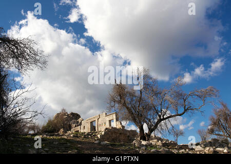 Neglected archeological ruins. Photographed in Israel - Stock Photo