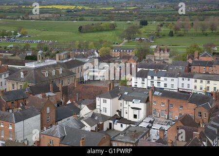 View of Warwick, England, UK - Stock Photo
