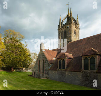 All Hallows church in Tillington near Petworth, West Sussex, England. - Stock Photo