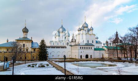 Rostov Veliky, Russia - churches in Kremlin - Stock Photo