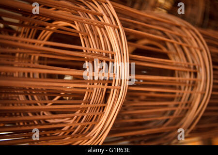 Pile of steel wire rod - Stock Photo
