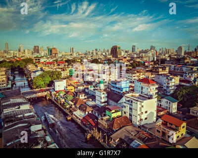 Bangkok  aerial view - Stock Photo