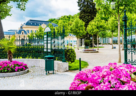 Kurpark und Spielcasino in Baden bei Wien; Casino in Baden near vienna - Stock Photo