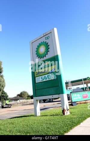 BP - British Petroleum Petrol station Victoria Australia - Stock Photo