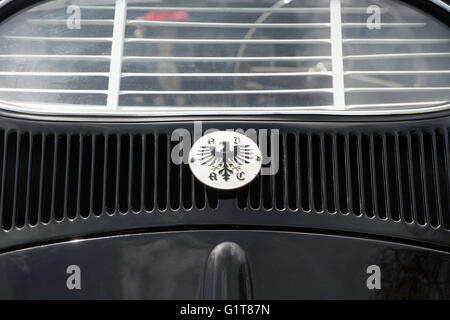 ADAC Eagle Badge Germany on the rear of a 1954 VW Beetle car - Stock Photo