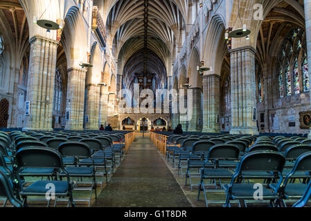 Exeter Cathedral, Devon, England, United Kingdom - Stock Photo