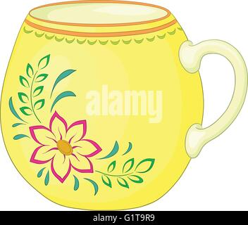 Cup with a pattern - Stock Photo
