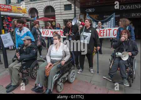 London, UK. 19th May, 2016. Delegates from the TUC disabled workers conference led by activists from Disabled People - Stock Photo