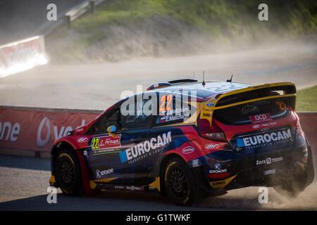 Lousada, Portugal. 19th May, 2016. Jaroslav Melichárek (SVK) Ford Fiesta Rs WRC during WRC Vodafone Rally of Portugal - Stock Photo